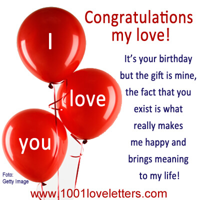 birthday - 1001 love letters